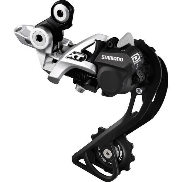 Shimano RD-M786 XT 10 velocidades sombra + desviador trasero de diseño, GS, Plata