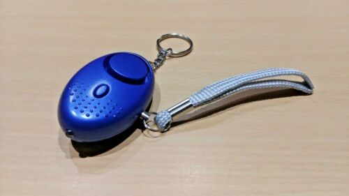 Attack Alarm with LED Torch 140dB BLUE Police Approved Personal Safety Panic