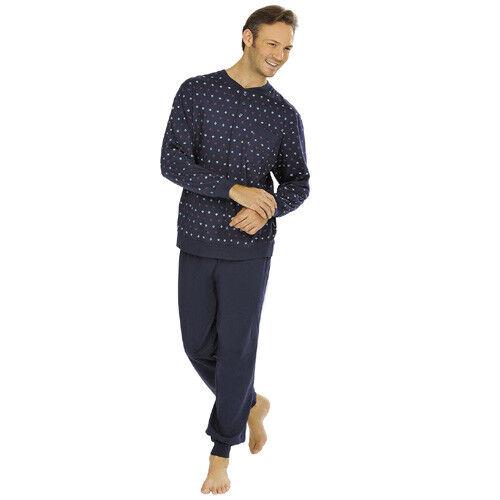 uomo da blu Comte scuro pigiami biancheria Suits Cotone notte sonno pigiama da w1CInvxvq