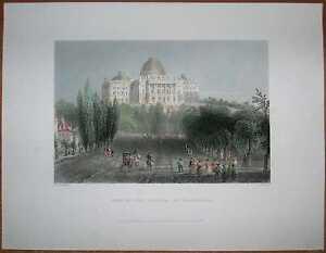 1840-Bartlett-print-VIEW-OF-THE-CAPITOL-WASHINGTON-D-C-145