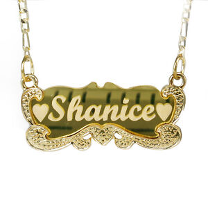 Details about Gold Name Necklace