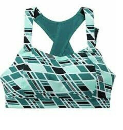 ATHLETA Brooks Juno Bra NWT Sz 34 DD, Ocean Waves, Running High Impact