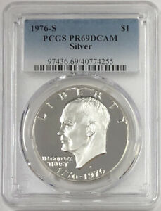1976-S-SILVER-Eisenhower-IKE-PROOF-PCGS-PR69DCAM