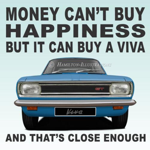 Vauxhall Viva HB GT Saloon Art Classic Car Gift Idea Drinks Coaster BLUE