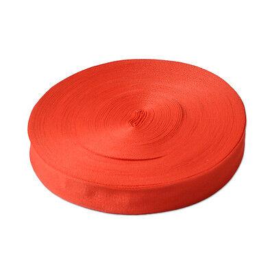 Nylon Strap Webbing Camping Lash Strap 10 Yards Length 1 inch Width Black/Red