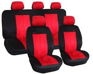 Autositzbezuege-SET-Autoschonbezuege-ROT-passend-fuer-Kia-Sorento-III-Suzuki-Swift