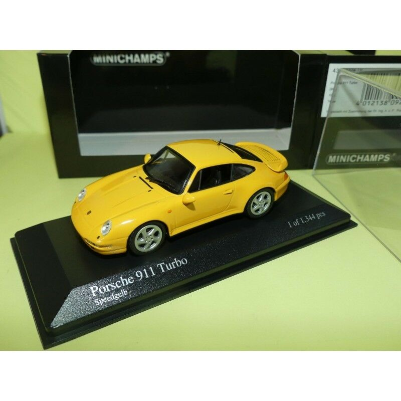 PORSCHE 911 TURBO Type 993 993 993 1995 Yellow yellow MINICHAMPS 1 43 ac25bb