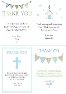 10 personalised boys first 1st holy communion invitations thank