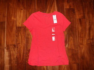 eca42749 Image is loading NWT-Womens-TOMMY-HILFIGER-V-Neck-Rogue-Red-. Image not  available ...