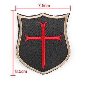 Special-Force-Devgru-Seal6-Crusader-Cross-Gestickt-Abzeichen-Hook-Loop-Patch-T4