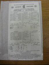 27/06/1985 Cricket Scorecard: England v Australia [At Lords] 5 Day Match (scores