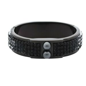 Misaki-Ladies-Bracelet-Bangle-Stainless-Steel-Black-Caviars-Qcrbcaviars-New
