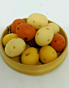 12 pcs Polymer Clay Dollhouse Miniatures Clay Potato Potatoes Vegetables Grocery