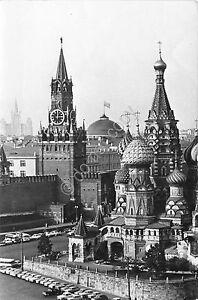 Cartolina-Postcard-Moscow-Tower-of-Cremlin-1966