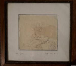 Straightforward Revoil Attributed To Drawing Allegory Genod Collection 19e Stamp French Wide Varieties Art Drawings