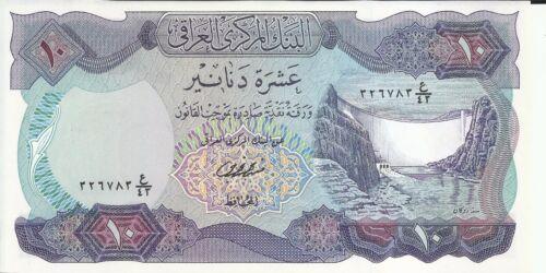 5RW 23JUL UNC CONDITION IRAQ 10 DINAR 1973  P 65