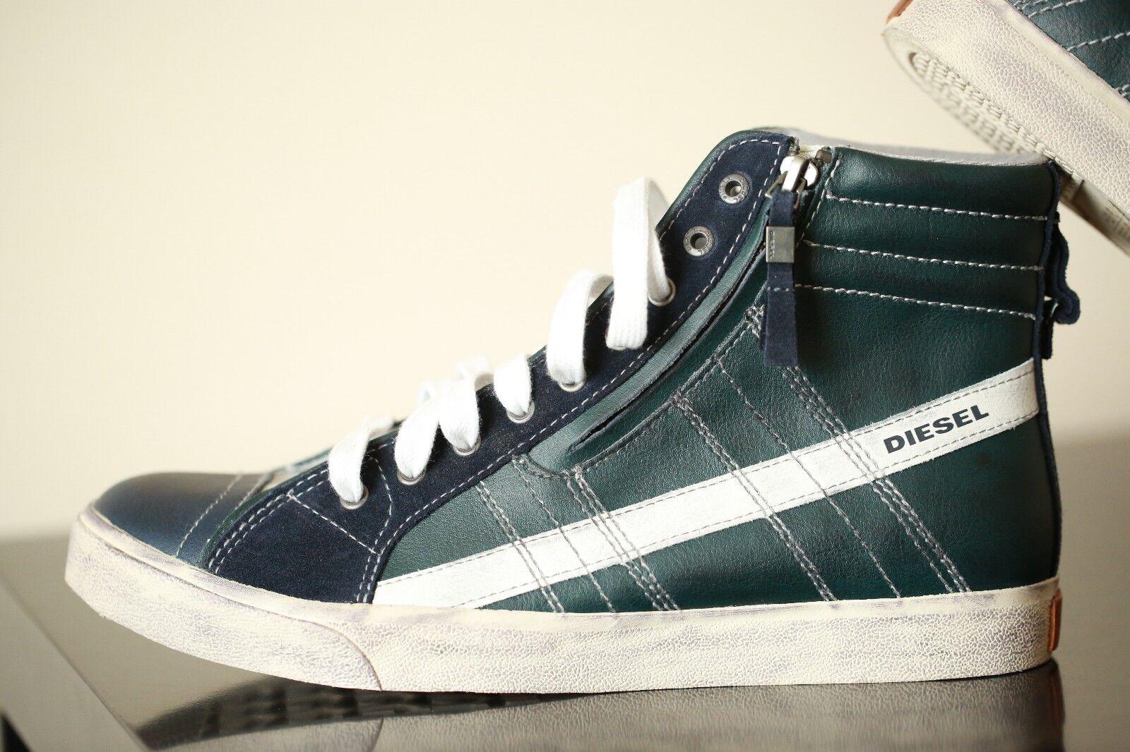 Diesel D-STRING Grey Dark Green shoes Size