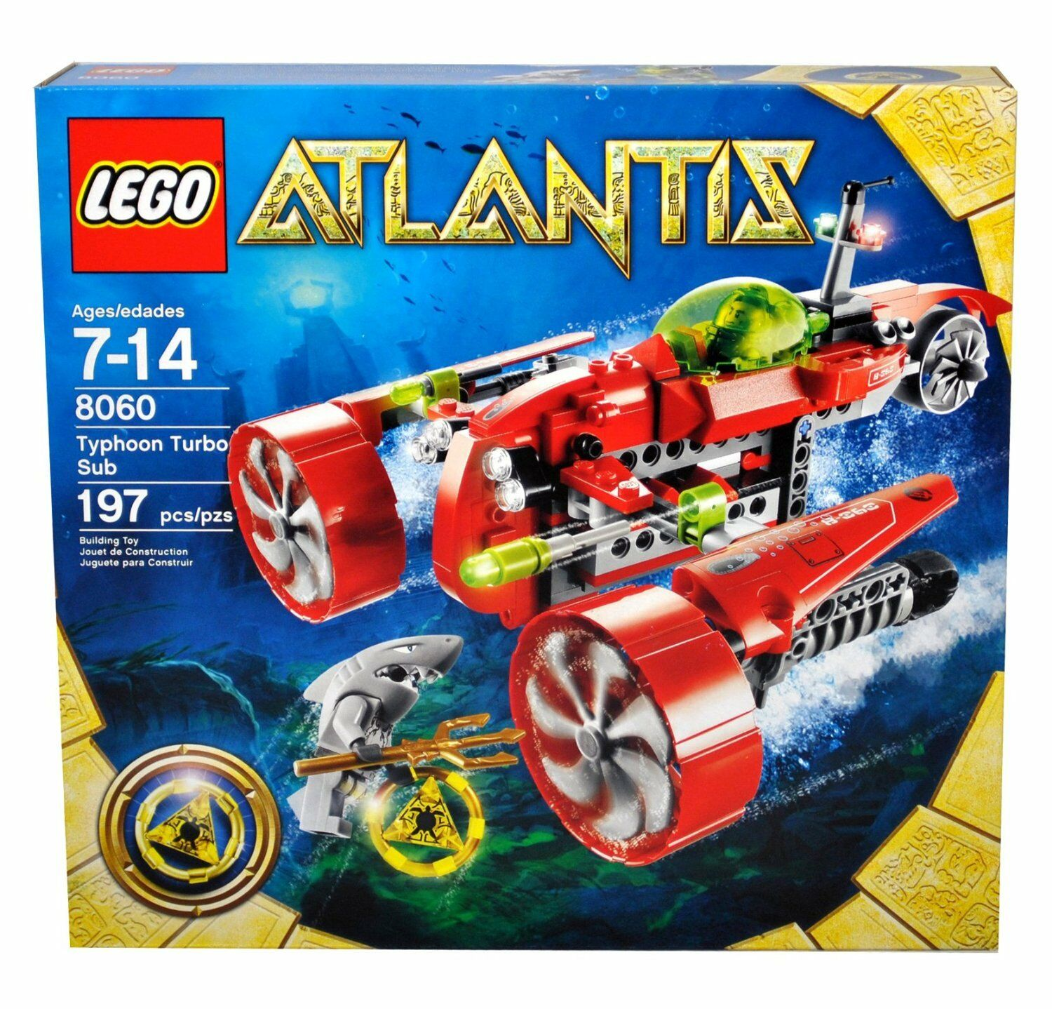 NEW IN SEALED BOX - LEGO ATLANTIS Typhoon Turbo Sub 8060 / 197 pieces