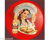Cerveza Mexicali Beer Coaster Refrigerator / Tool Box Magnet Man Cave