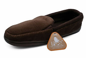 MENS-BROWN-SLIP-ON-INDOOR-FLAT-WARM-COMFY-COOL-SLIPPERS-HOUSE-SHOES-SIZES-7-11