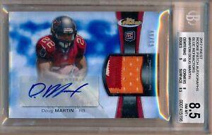 DOUG-MARTIN-2012-Topps-Finest-Rookie-Blue-4-Clr-Patch-AUTO-99-Bucs-BGS-8-5