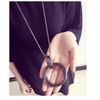 Women Occident Retro style Fashion Long chain charms Vintage Pendant Necklace