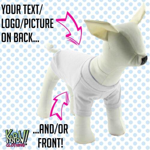 Personalizado Personalizado Perro Cachorro Mascotas T-Shirt Ropa Nombre Regalo Divertido-su texto//logo