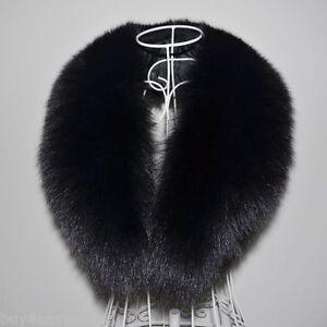 Black-Fox-Fur-Collar-Detach-Down-Jacket-Men-Fur-Scarf-Women-Wrap-Shawl-39-034-US