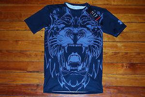 Novo Under Armour Beast Mode Leão Preto E Cinza Camisa De Compressão ... 391d0f42b943e