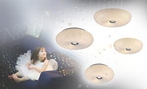 Deckenleuchte-Deckenlampe-Wandleuchte-gestreiftes-Glas-Weiss-Chrom-inklusive-LED