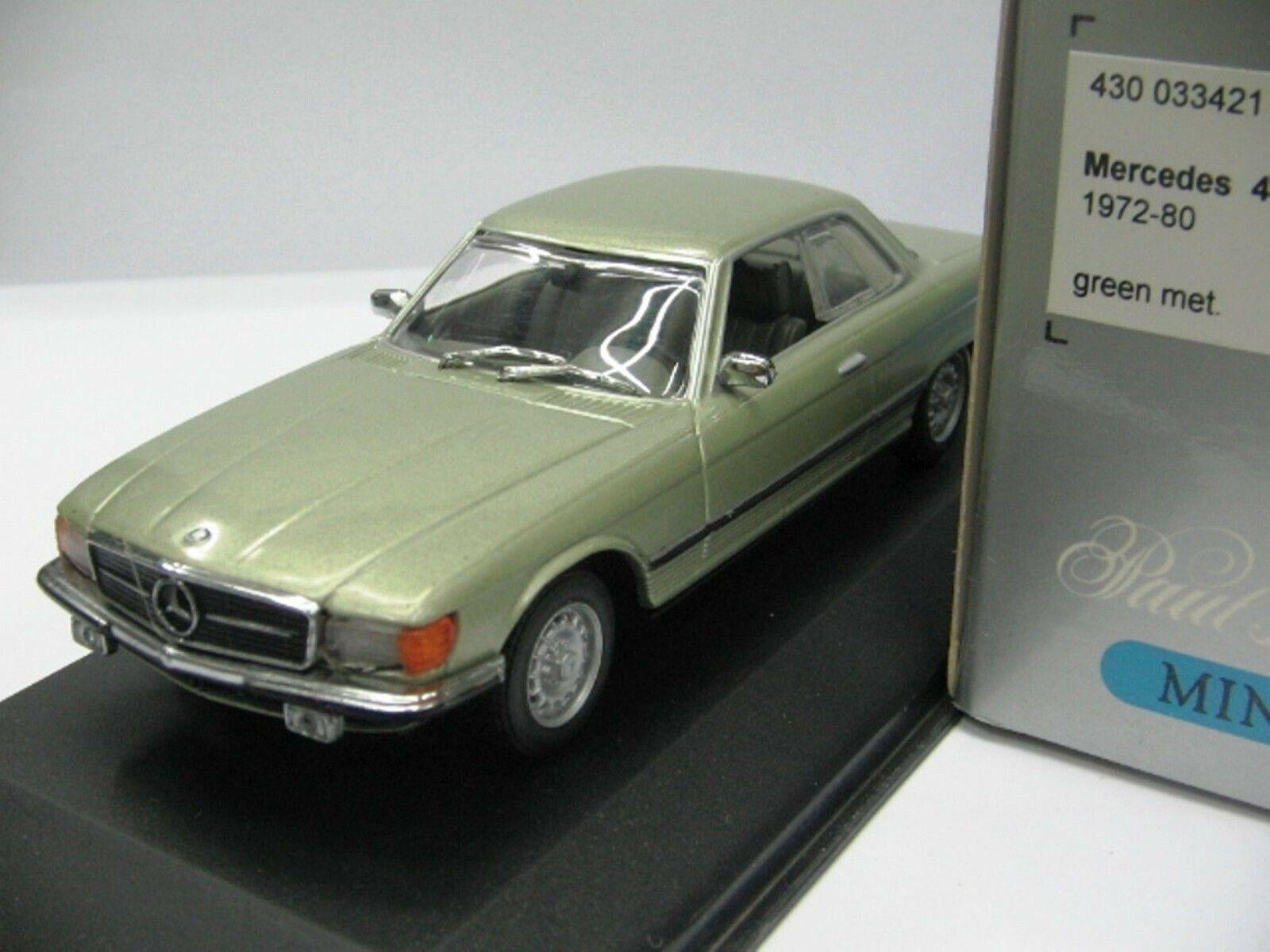 Wow extrêmement rare MERCEDES W107 C107 450SLC 1974 vert 1 43 Minichamps - 300,560