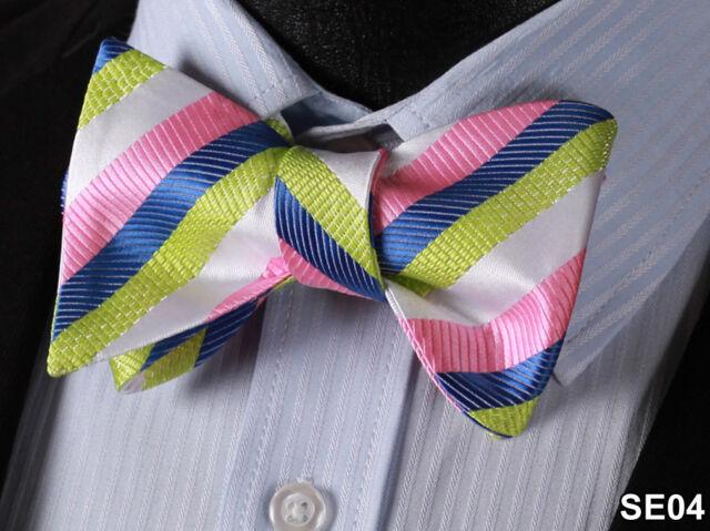 Stripe Silk Jacquard Men Classic Wedding Self Bow Tie BowTie SE