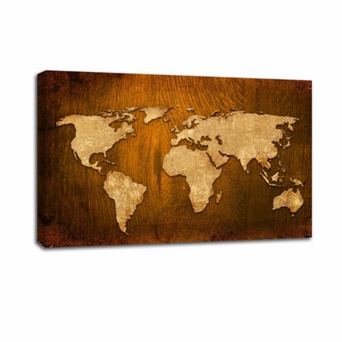 Large Antique World Map Oil Painting Canvas Prints Art Home Room Wall Decor