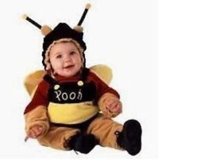 DISNEY WINNIE THE POOH BEAR BEE HALLOWEEN COSTUME INFANT SIZE 12 ... f3075dacbd47