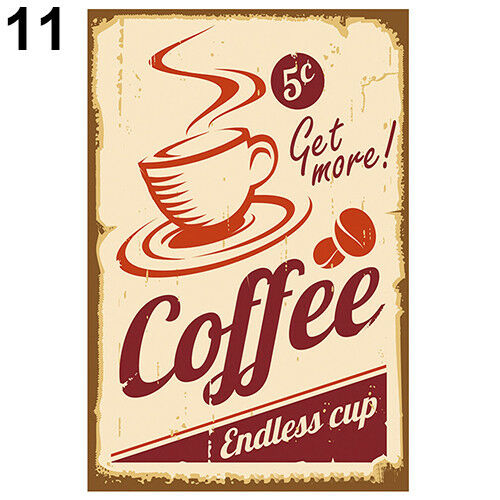 EP/_ Vintage Metal Tin Coffee Sign Plaque Poster Bar Wall Pub Home Club Kitchen D