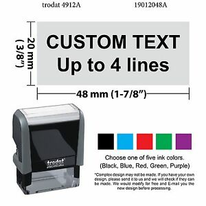 Image Is Loading Trodat 4912 Self Inking Rubber Stamp Custom For