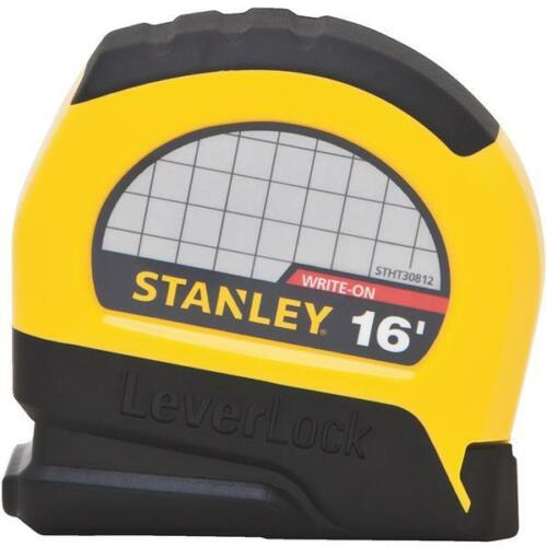 "24 -Stanley 3//4/"" Wide X 16/' SAE Plastic Case LeverLock Tape Measure STHT30812"