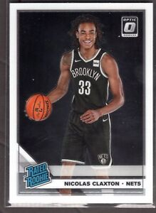 2019-20 Donruss Optic Basketball Rookie Card RC Nicolas Claxton #171 Nets -A