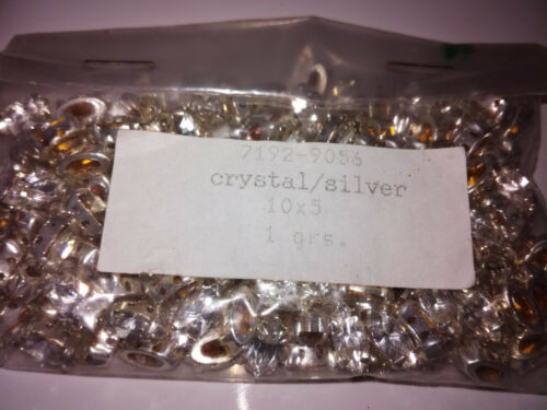 100x Preciosa MC Navette Crystal//Silver 10x5 Glitzersteine 7192-9056 zum annähen
