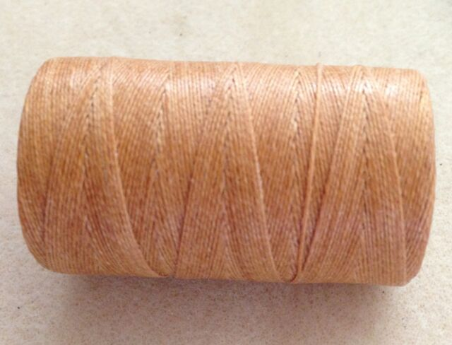 Waxed Irish Linen Crawford Cord 2 ply 0.52mm 5 or 20 yards BUTTERSCOTCH Brown