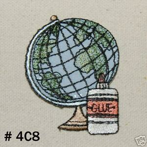 2pcsschool world mapiron on applique patch ebay image is loading 2pcs school world map iron on applique patch gumiabroncs Image collections
