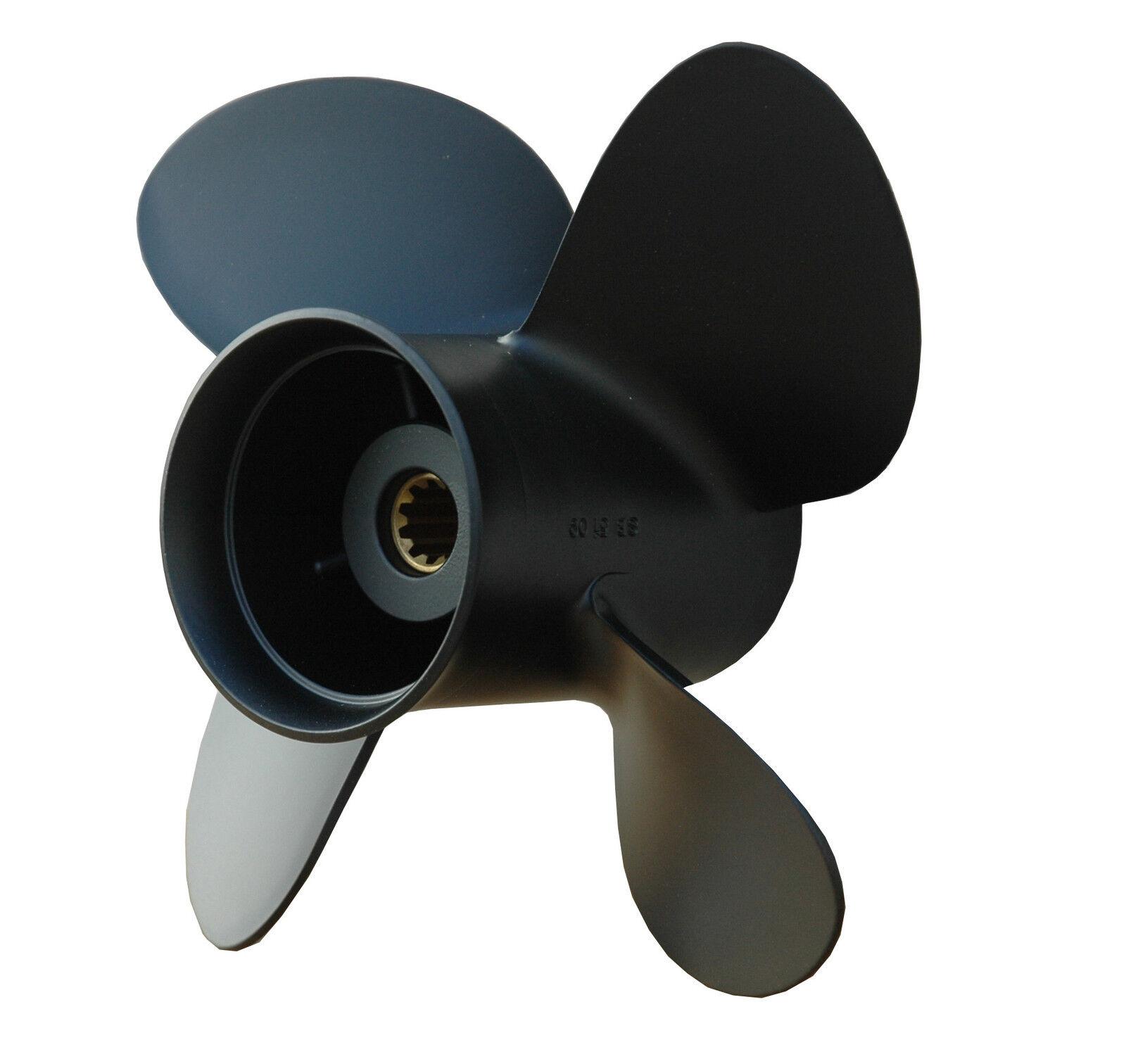 SOLAS Propeller Aluminium 4 Blatt 10 1 5 x 11  Zoll für Mercury 9,9 bis 25 PS