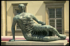 470078 Bronze Statue Draped Reclining Woman By Moore Germany A4 Photo Print