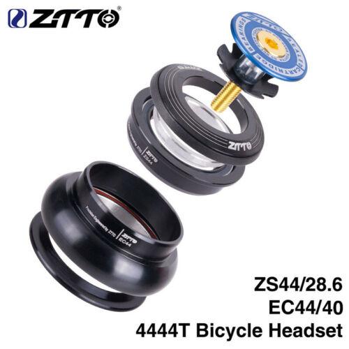 """ZTTO 4444S MTB Bike Headset 44mm 1-1//8/""""-1 1//2/"""" 28.6mm Straight Tube Frame Fork"""