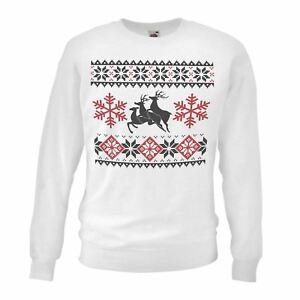 Adults-White-Rudolph-Sandwich-Sweatshirt-Reindeer-Threesome-Funny-X-Mas-Gift