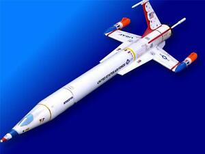 Accur8-034-Thunderbirds-034-White-Skin-Kit-For-Estes-1250-Interceptor-Model-Rocket
