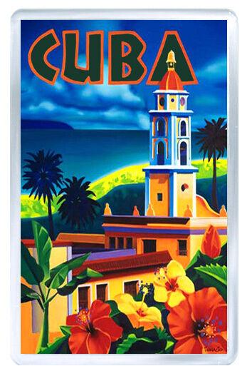CUBA HAVANA MOD2 FRIDGE MAGNET SOUVENIR IMAN NEVERA