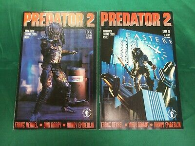 PREDATOR 2 #1-2 COMPLETE SET VF-NM 1991 DARK HORSE COMICS  MOVIE ADAPTATION
