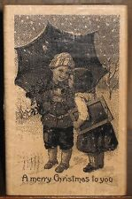 """Paper Inspirations Rubber Stamp - Kids in the Snow - """"A Merry Christmas to You"""""""