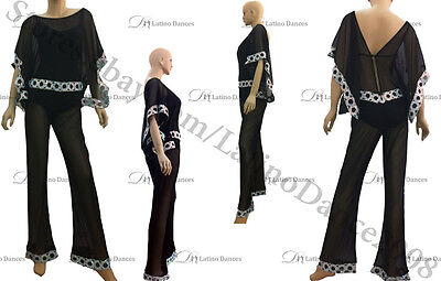 JUMPSUITS / LATIN SALSA COMPETITION DRESS WITH HIGH QUALITY RHINESTONES M157-J10